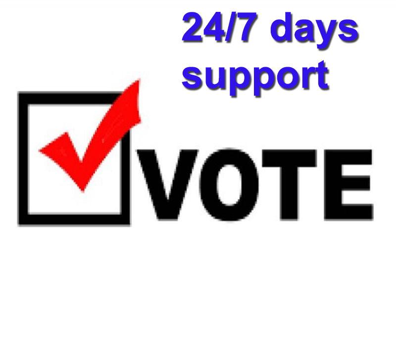 Provide 110 sign up vote or registration vote for your online voting contest