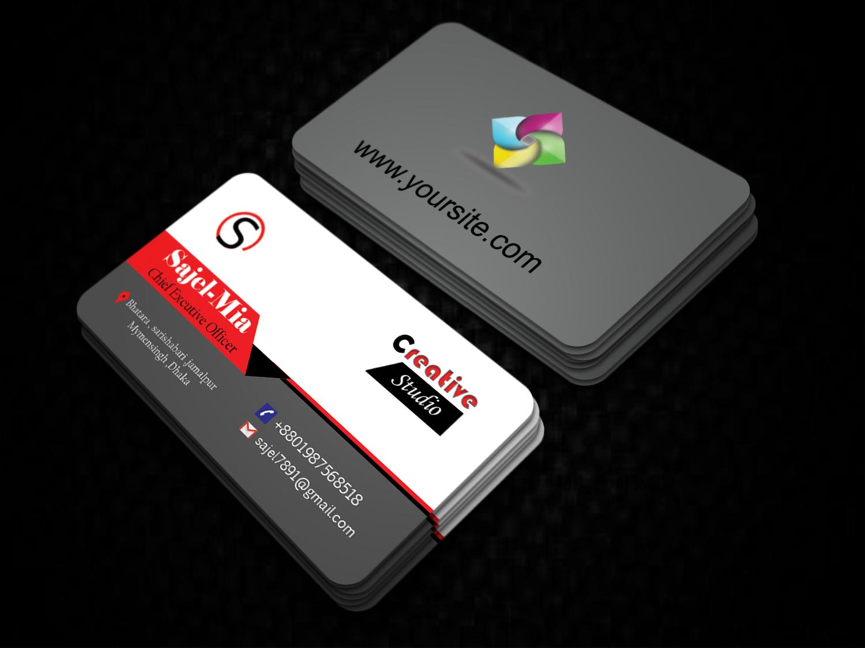 Do Professional Business Card Design 2 Side