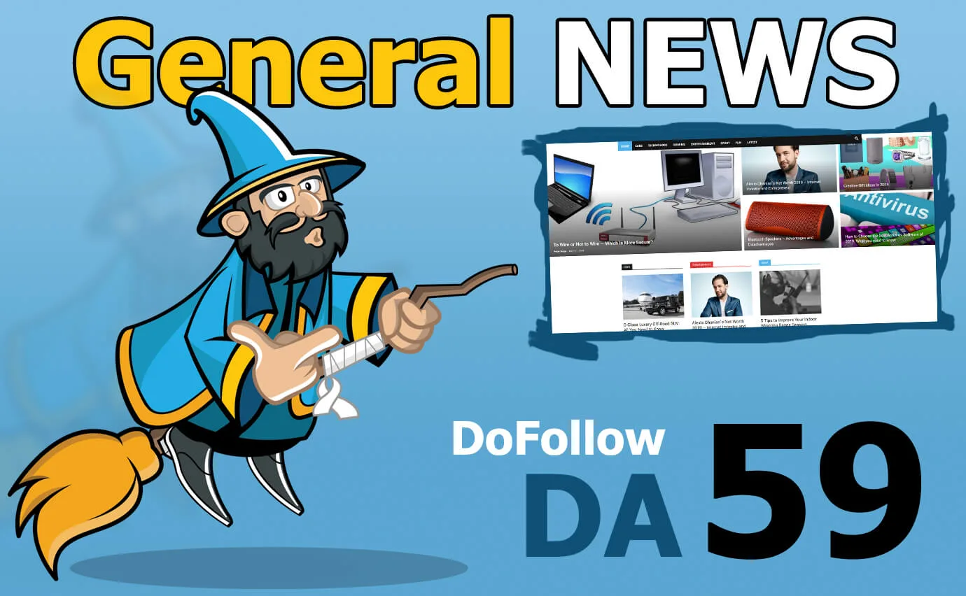 Guest Post on my DA59 General News Blog with Permanent Backlink