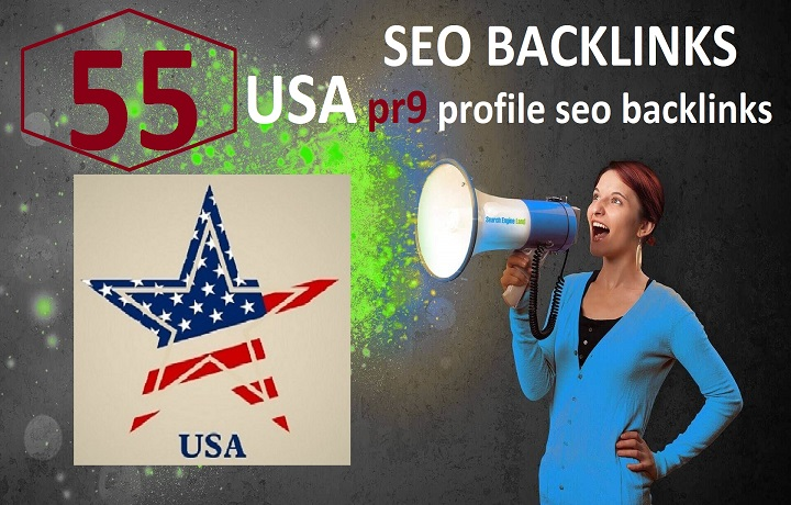 Create 55 USA Pr7 to Pr9 profile seo dofollow backlinks, link building