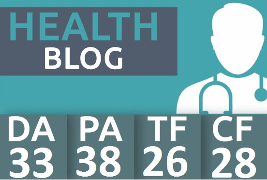 I will post health content in da 33 and DR 31 blog