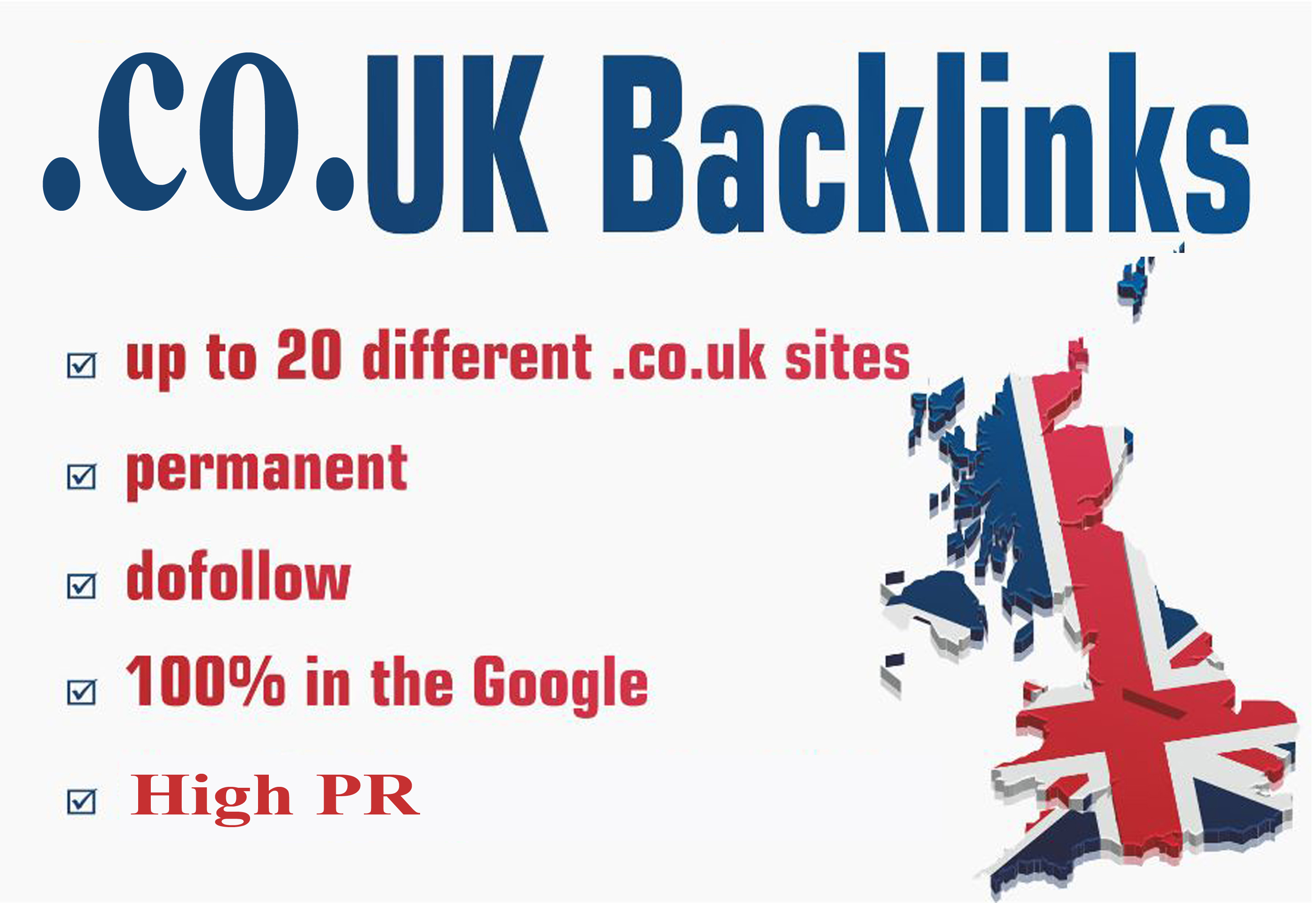 I will Create 20 co UK backlink High DA 40 Plus increase your domain authority