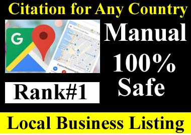 Manual 50 Google Maps citation for local SEO, business listing, directory submission