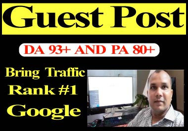 5 Guest Posts backlinks High Authority site DA 90+ boost your website and get more traffics