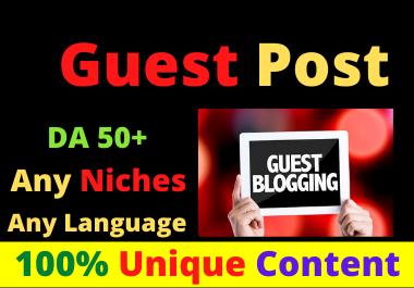 Write and Publish 10 Guest Posts High Authority DA 50+ Unique Content Natural Contextual Backlinks