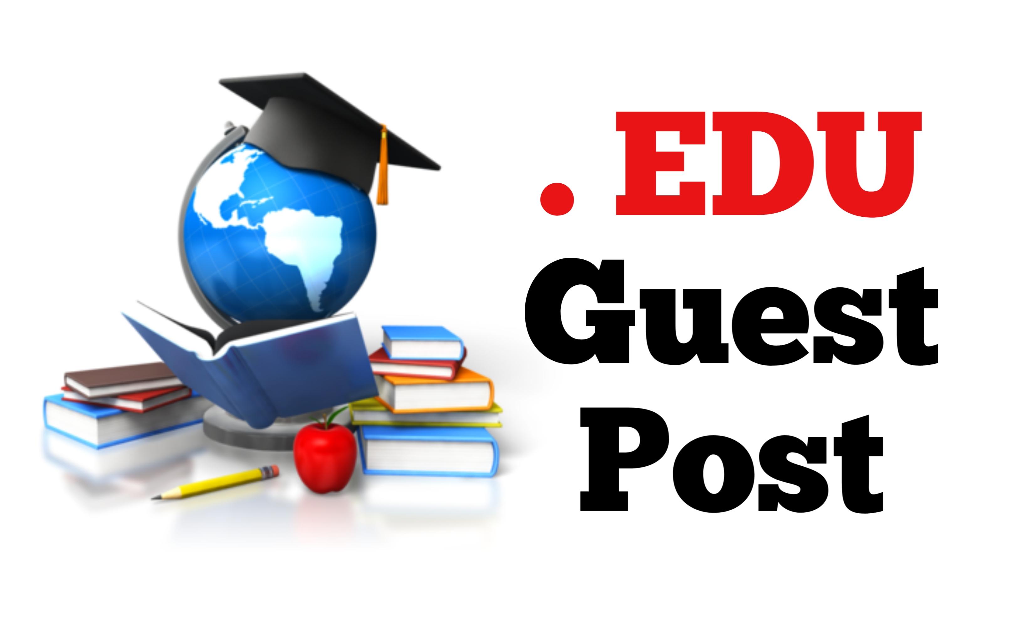 Write and Publish Guest Post on EDU site 90 Plus DA