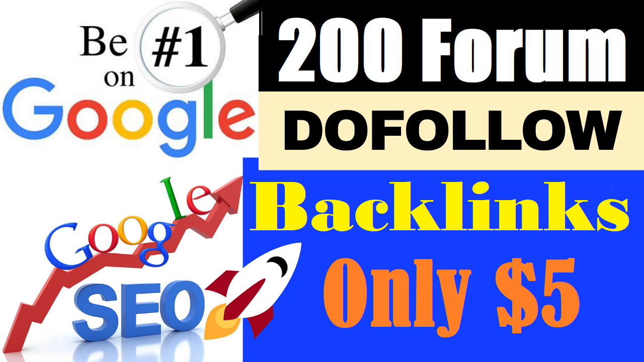 I will do 200 high authority dofollow forum profile backlinks with google ranking