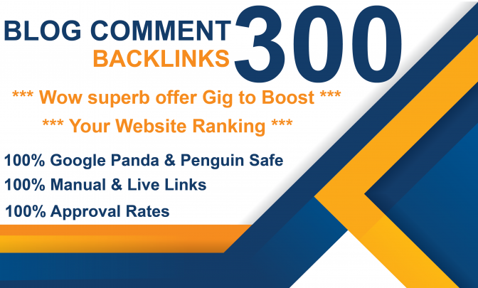 I will Manually create 300 dofollow Blog Comments Backlinks
