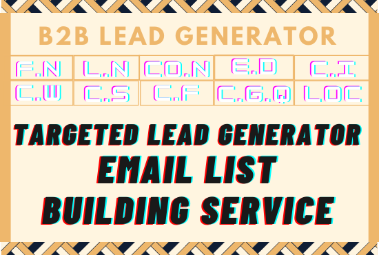 50 B2B Leads wit company name, Title, Email, Web Url etc