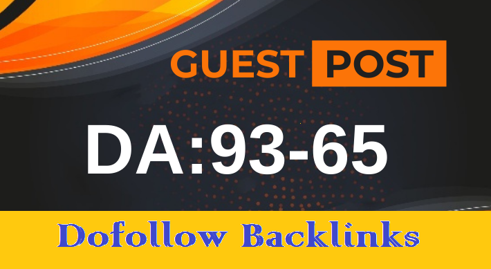 Manually DA90 PA80 write and publish guest post on Dofollow backlinks site