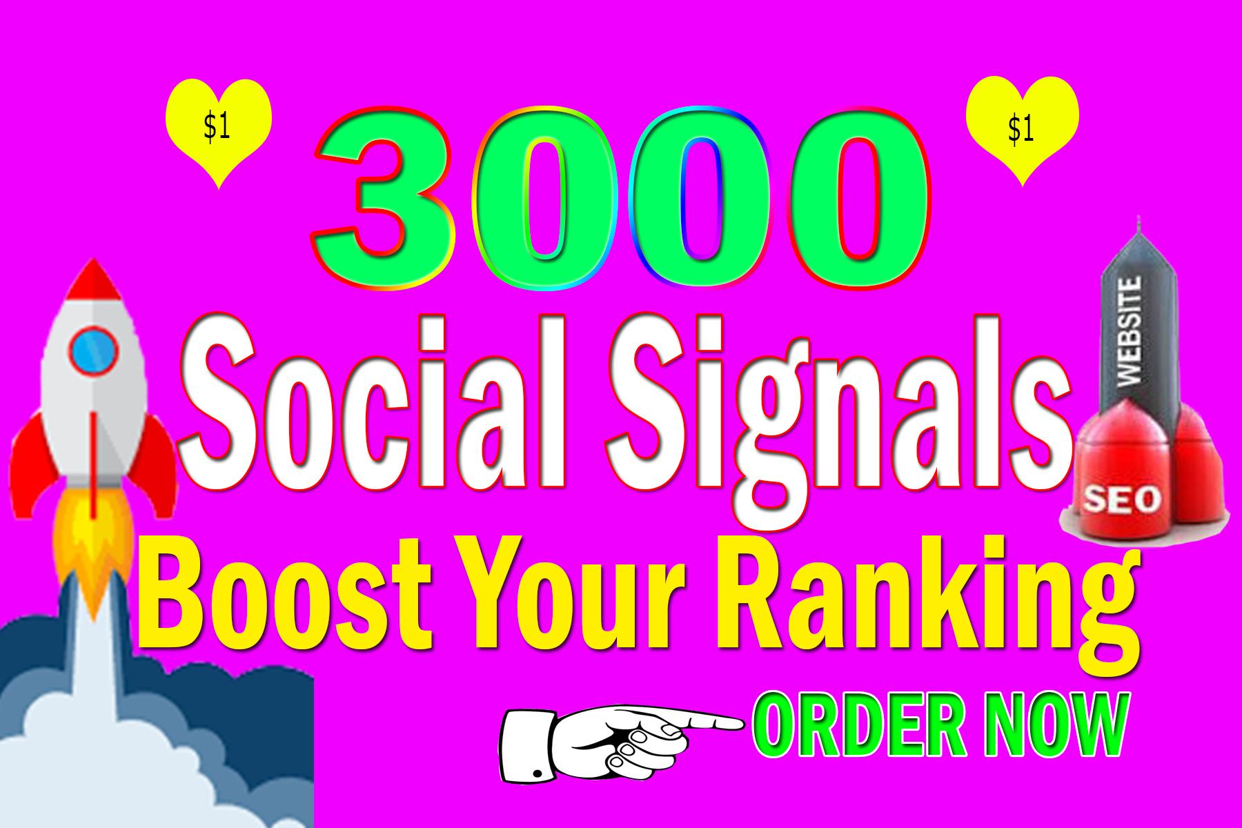Provide 3000 Real & Permanent Website Mixer SEO Social Signals