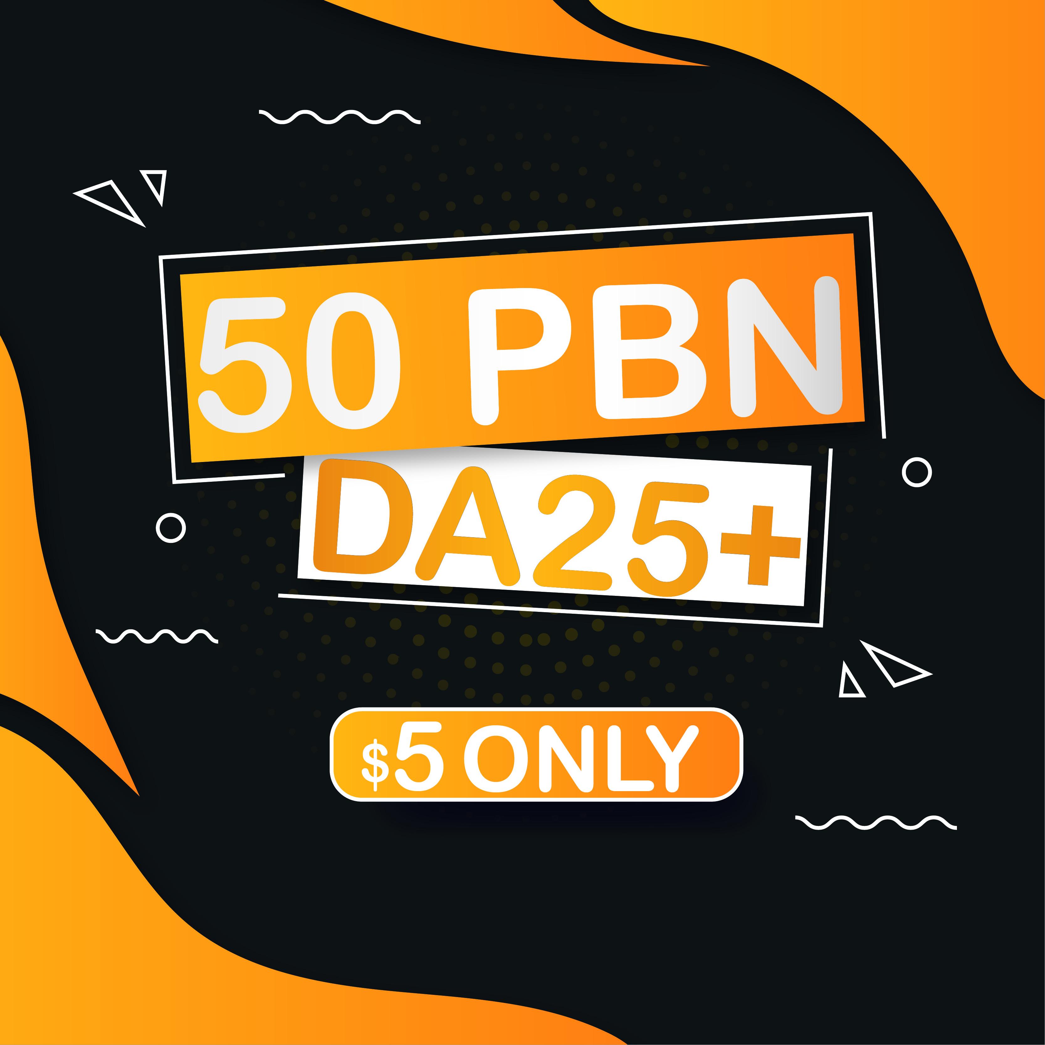 Build 50 Homepage PBN Do Follow Manually Backlink for SEO Rank