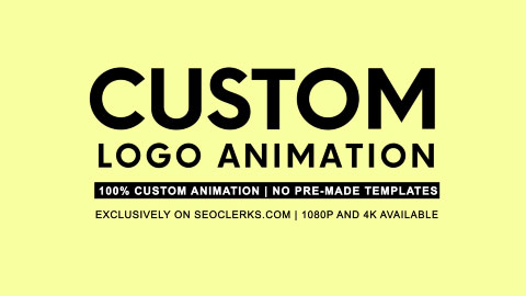I will create outstanding custom logo animation