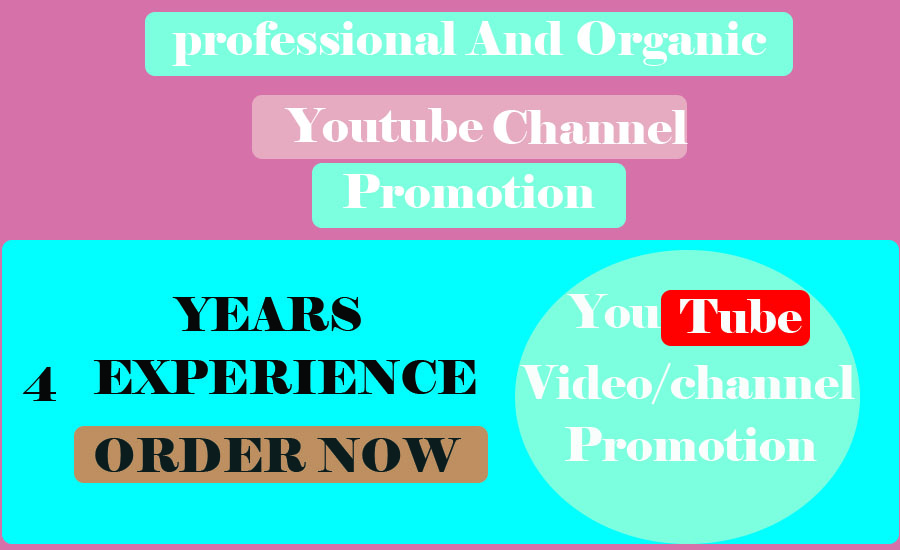 Youtube video promoton And Marketing via social media marketing