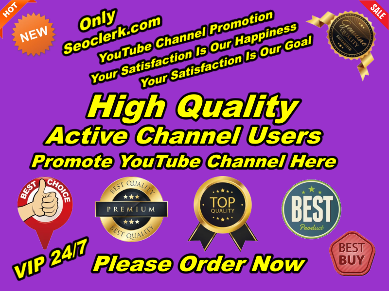 Outstanding Real High Quality YouTube Promotion Manually