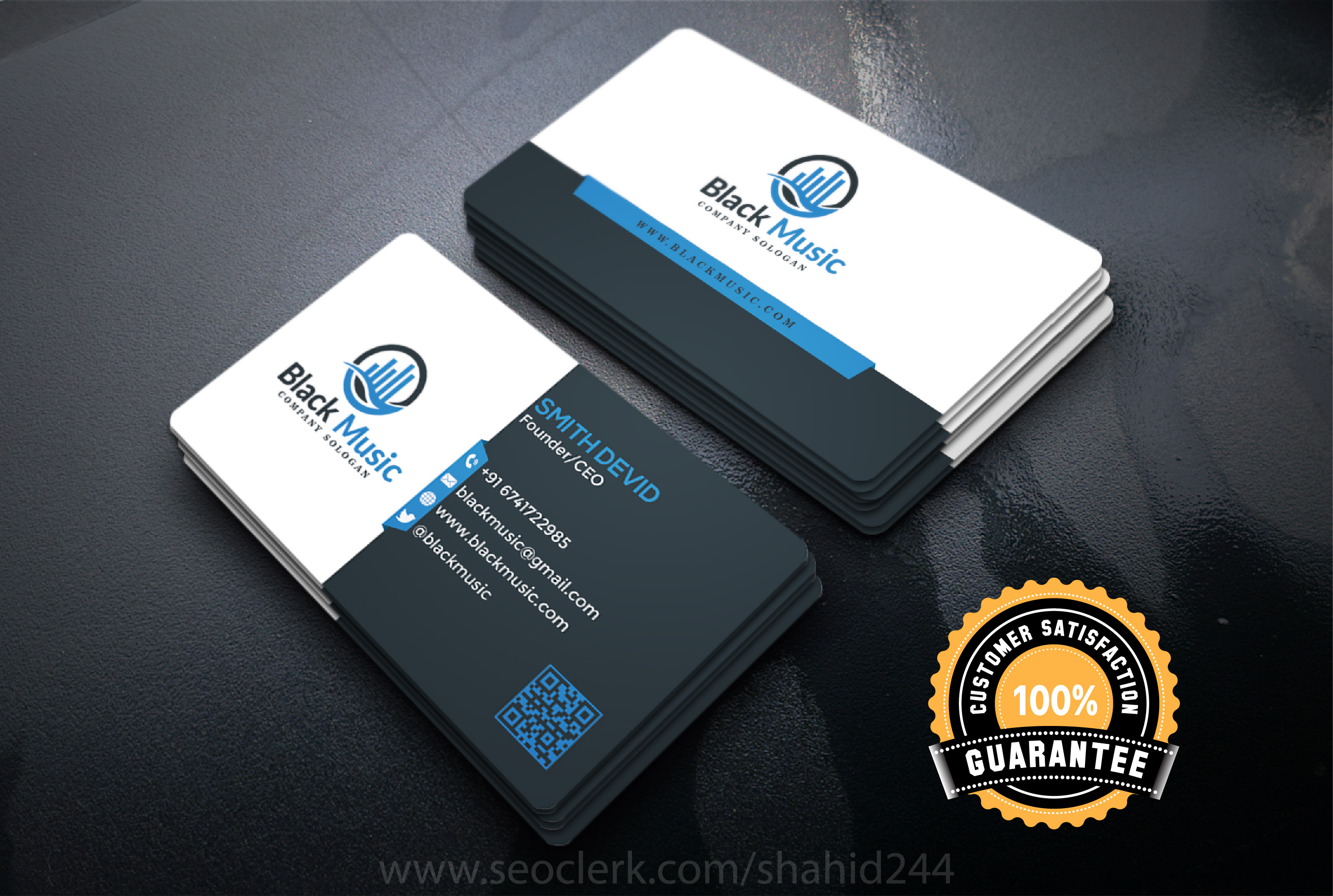 I will create 2 different business card design with print ready