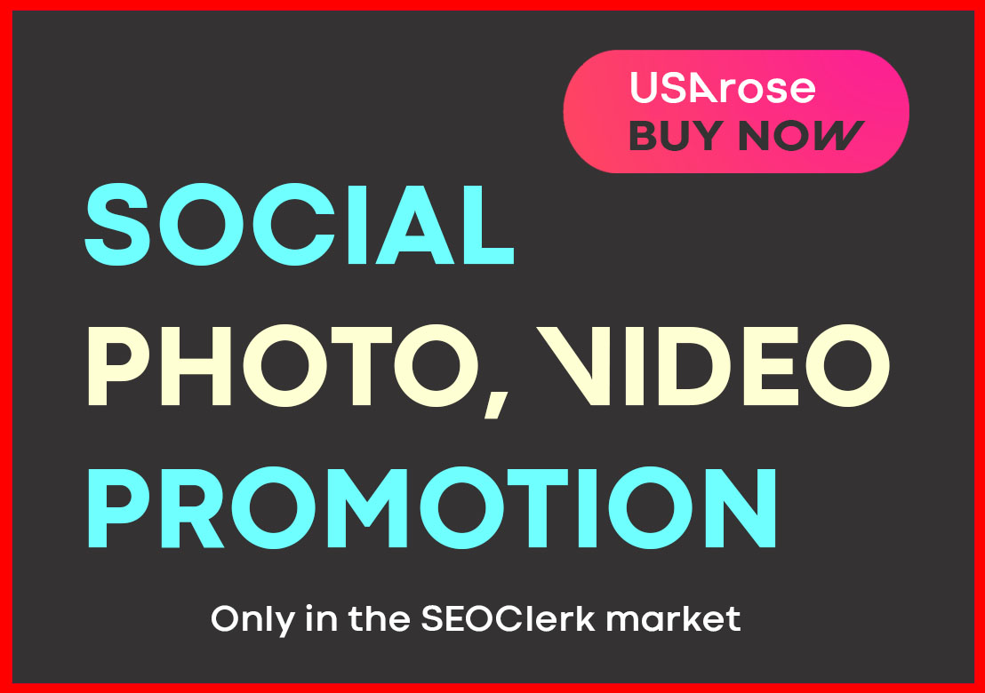 PHOTO OR VIDEO PROMOTION HIGH QUALITY SOCIAL SERVICE