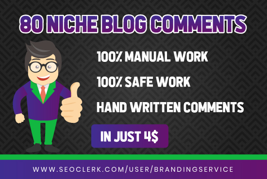 I'll Build 80 Niche Blog Comments On Authority Sites