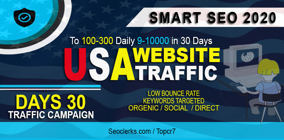 Drive Real Website Seo Visitors, Targeted Web Traffic From USA