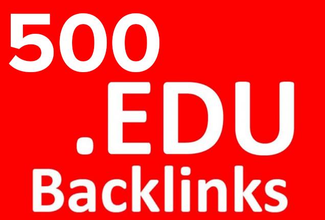 build 500 edu backlinks for google search ranking