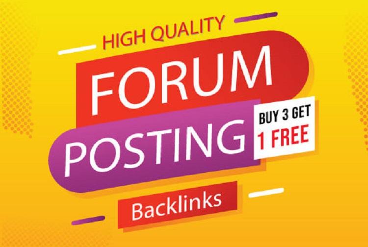 create 1000 forum dofollow SEO backlinks link building