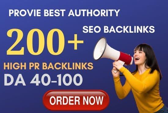 premium 200 high pr seo service authority backlinks,link building