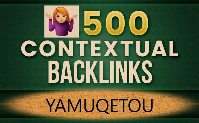 I Will Build 500 Perfect SEO Contextual Backlinks