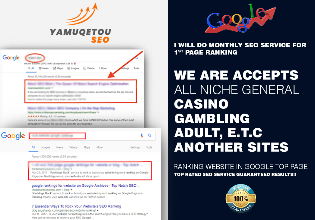 I will do monthly SEO service for 1st page ranking