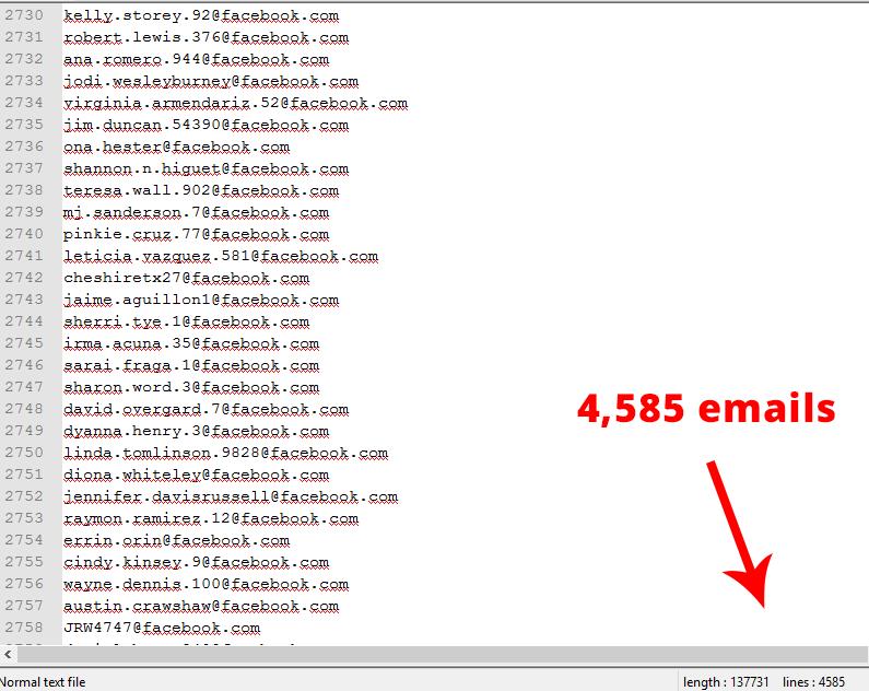 Provide 1.5 Million USA FacebookEmail list