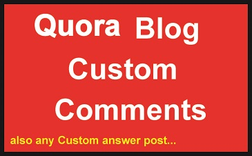 High-Quality Quora Custom blog comments also fast delivery