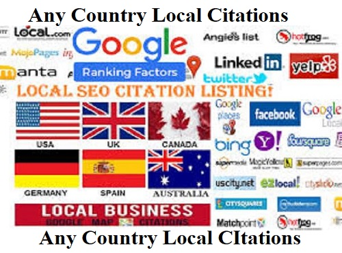 Create 15 Any Country Live Local Citations for Local Business