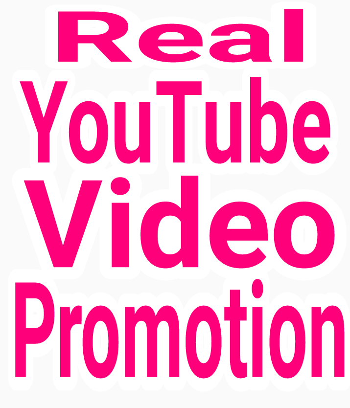 Very High Quality YouTube Video promotion via real human with fast delivery