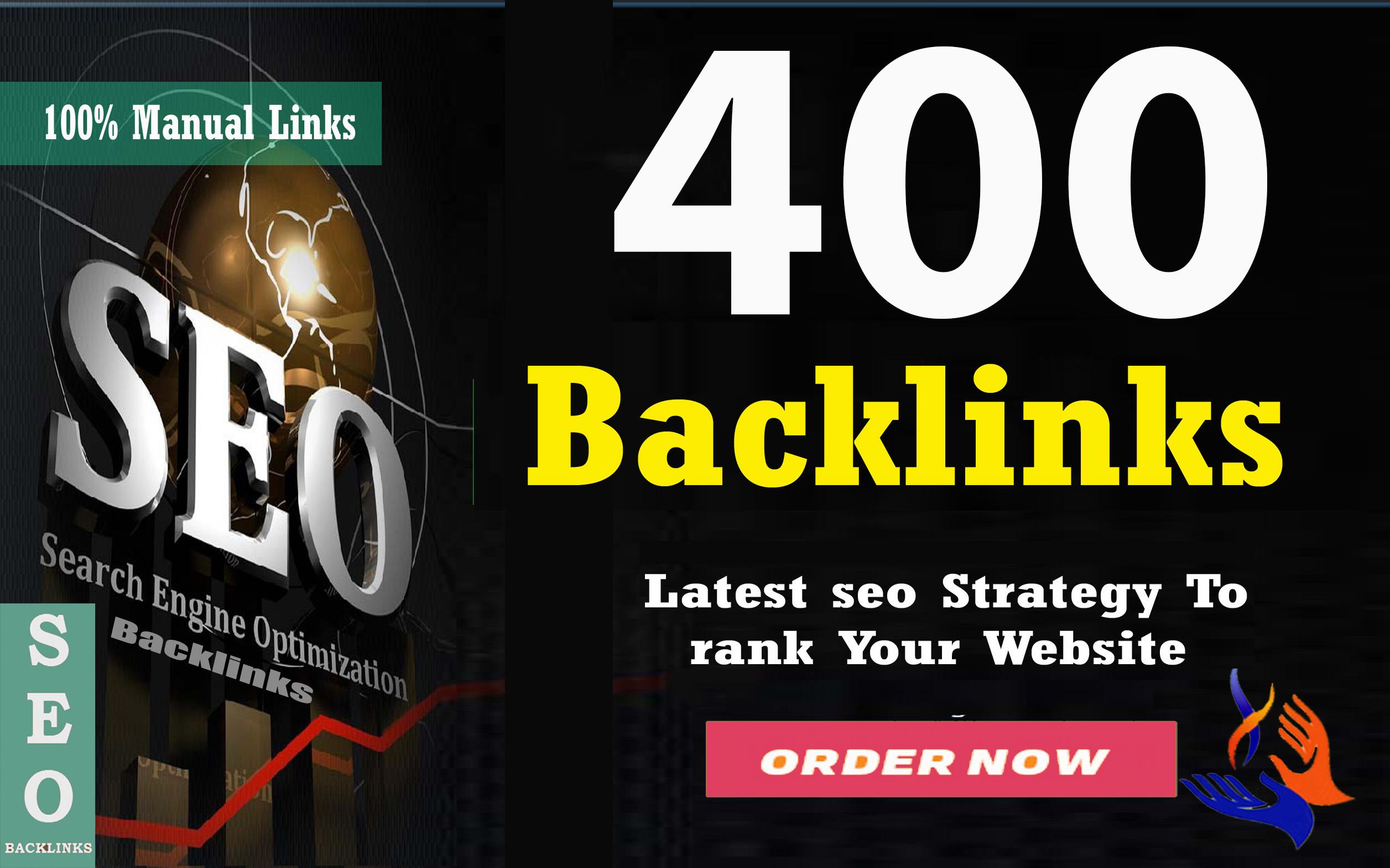 Build seo 400 dofollow backlinks,  google ranking,  link building service