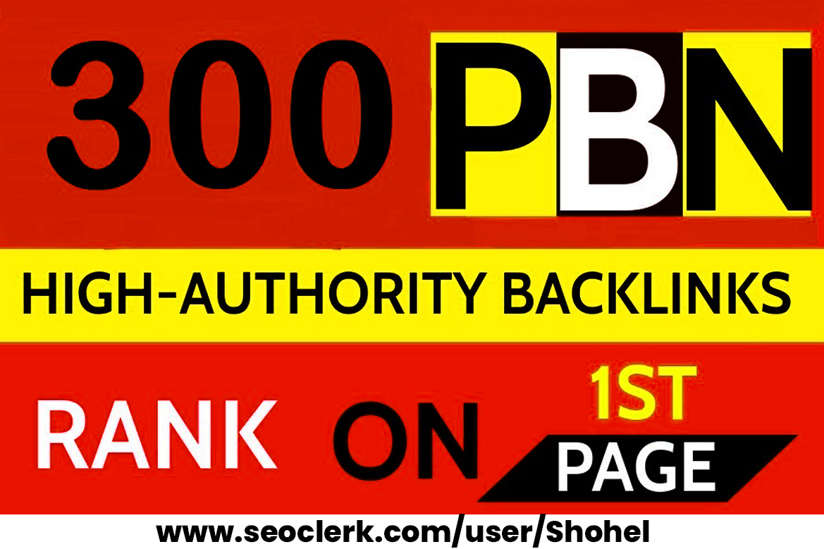 Get powerfull 300 Permanent DR 66 Homepage high quality PBN Dofollow Backlinks