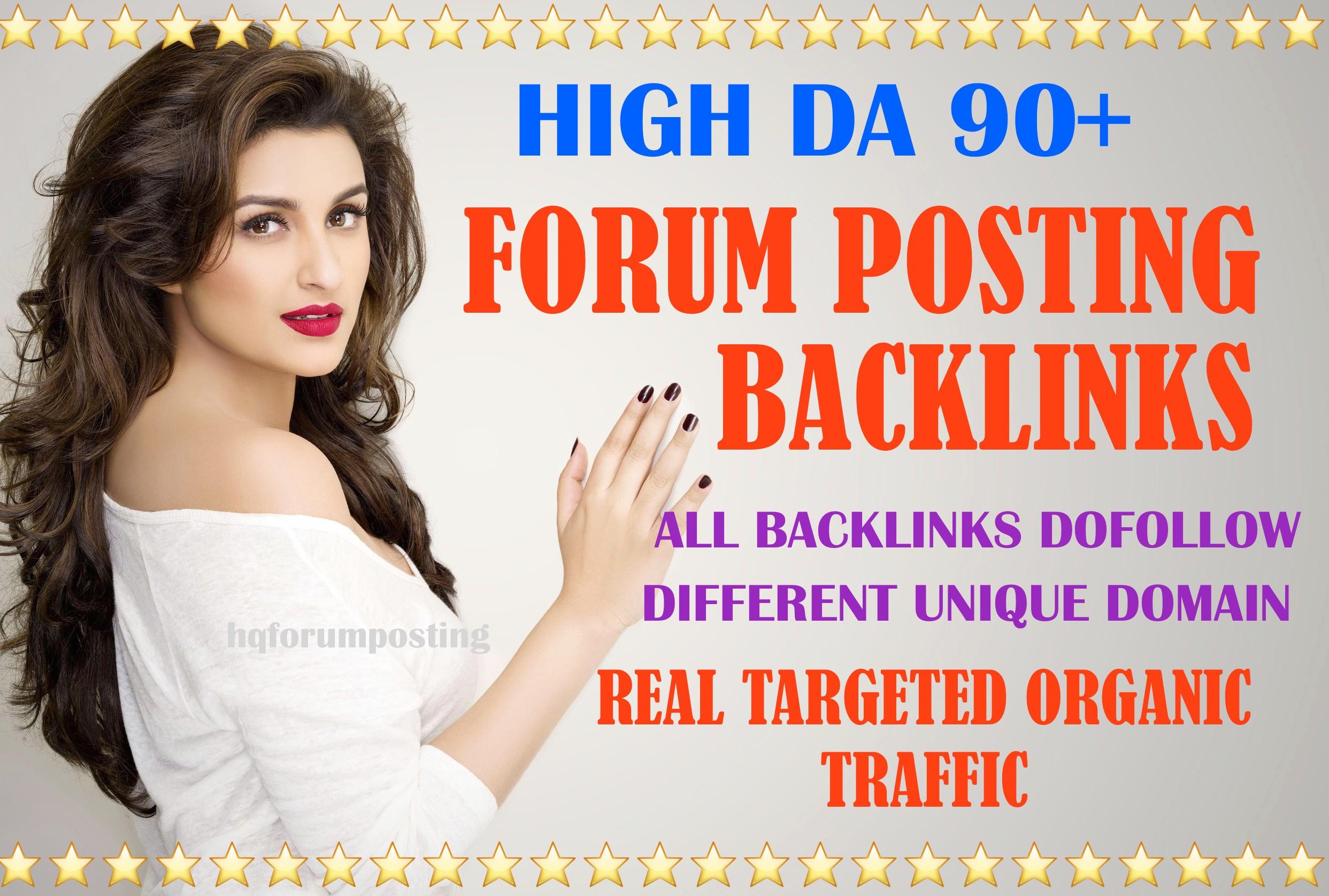 50 High authority DA50+ forum posting backlinks