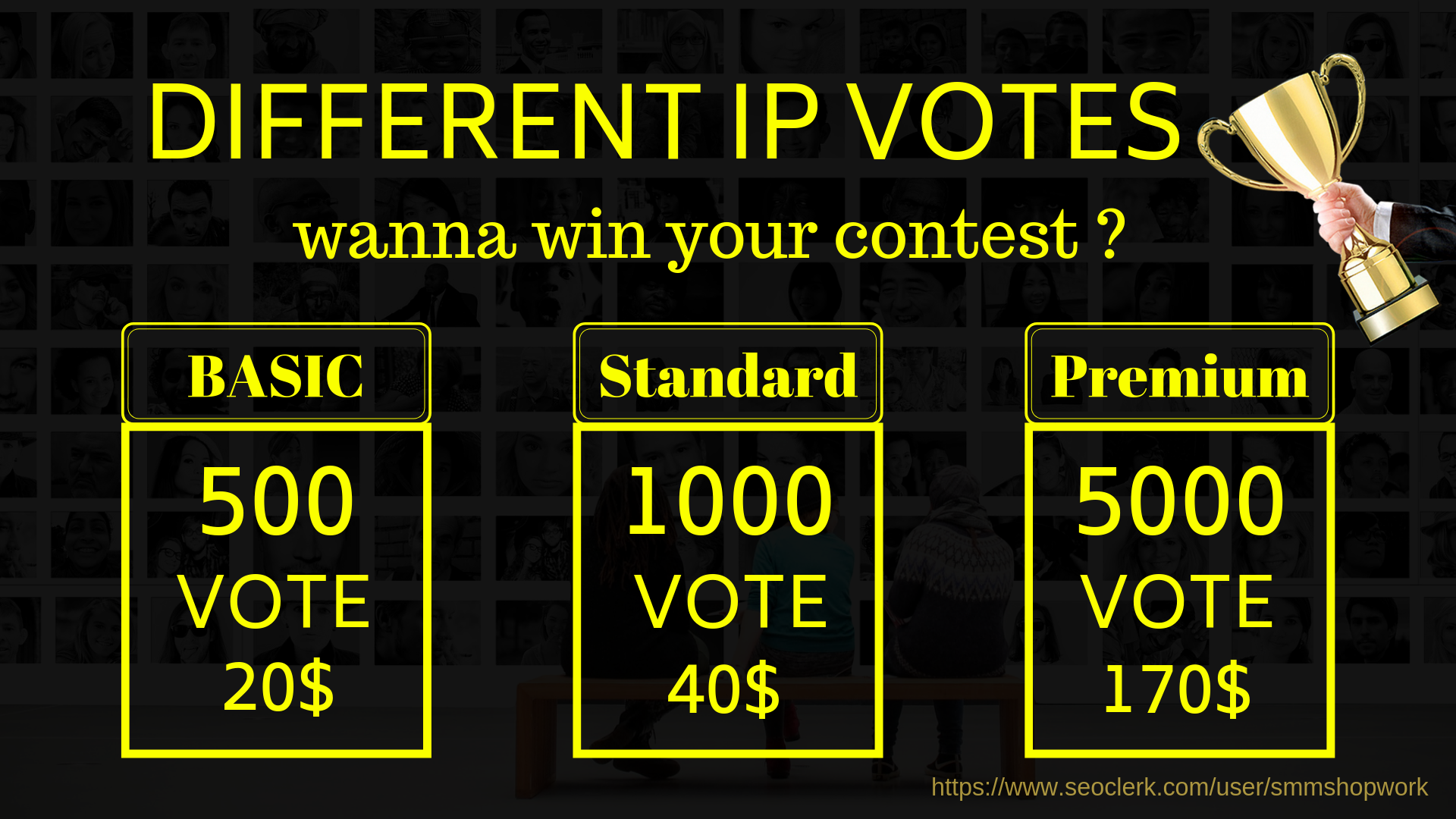 provide 500 only single click different ip Votes For Your Online Voting contest