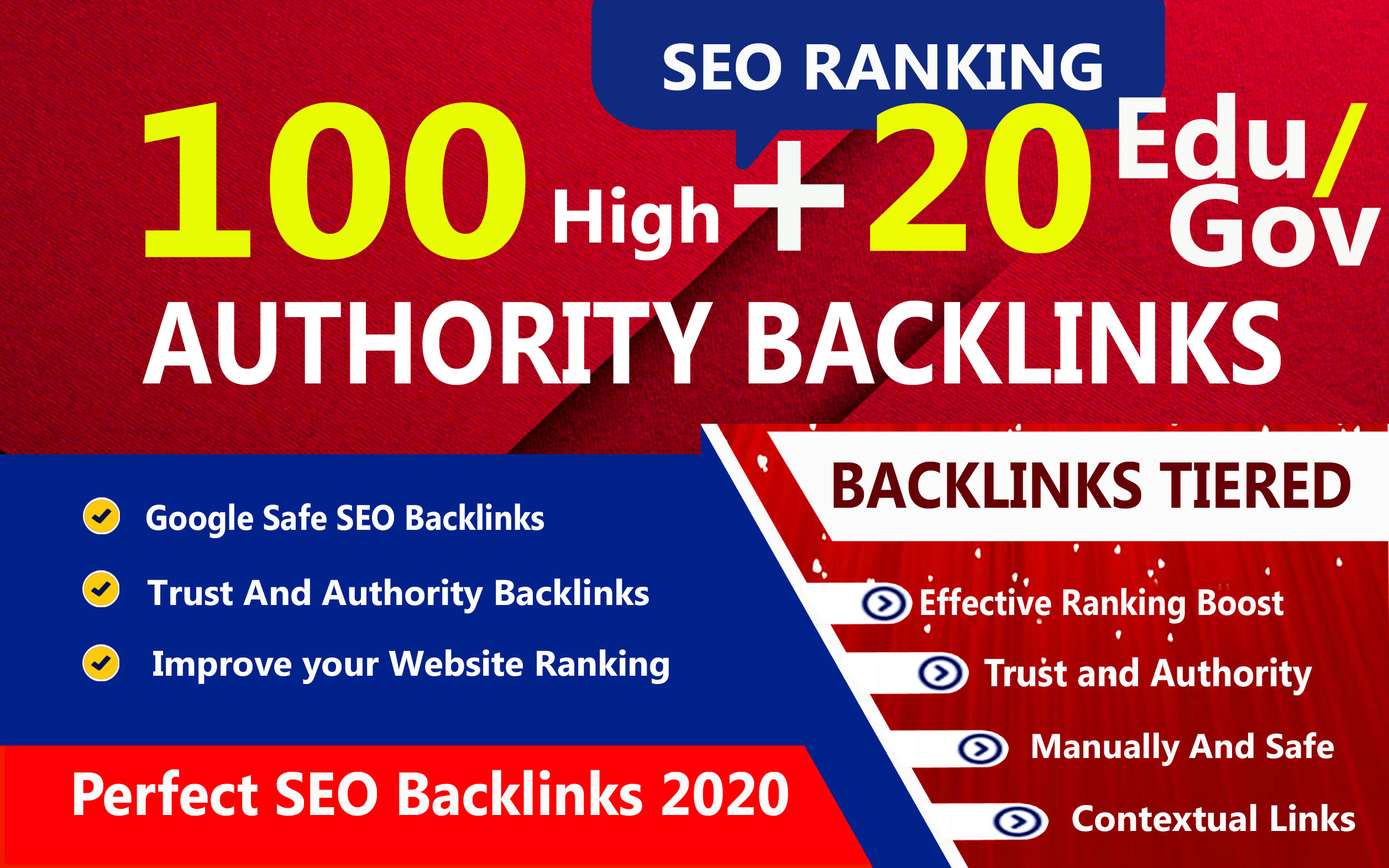 Latest And Manually 100 Pr9 + 20 Edu-Gov High Domains Authority Safe Seo Backlinks- White Hat SEO