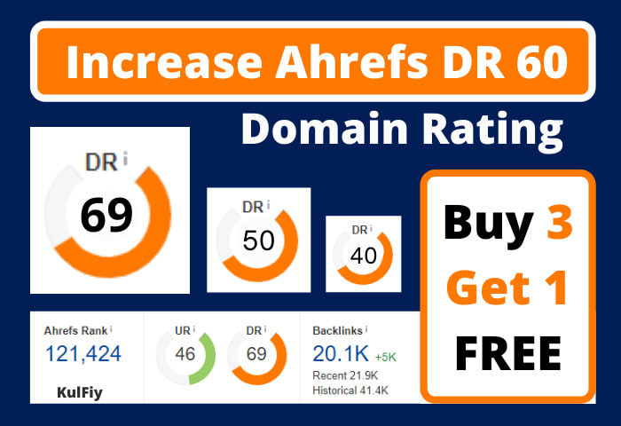 I will increase dr 40 domain rating moz ahrefs with white hat seo