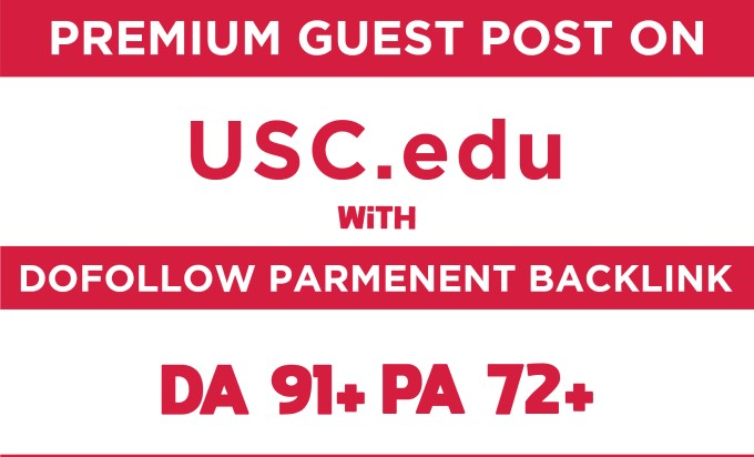 I will make Submission on university of southern california da91 pa72 dofollow blog