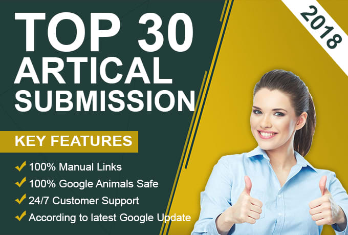I will perform 30 article distribution work for your site