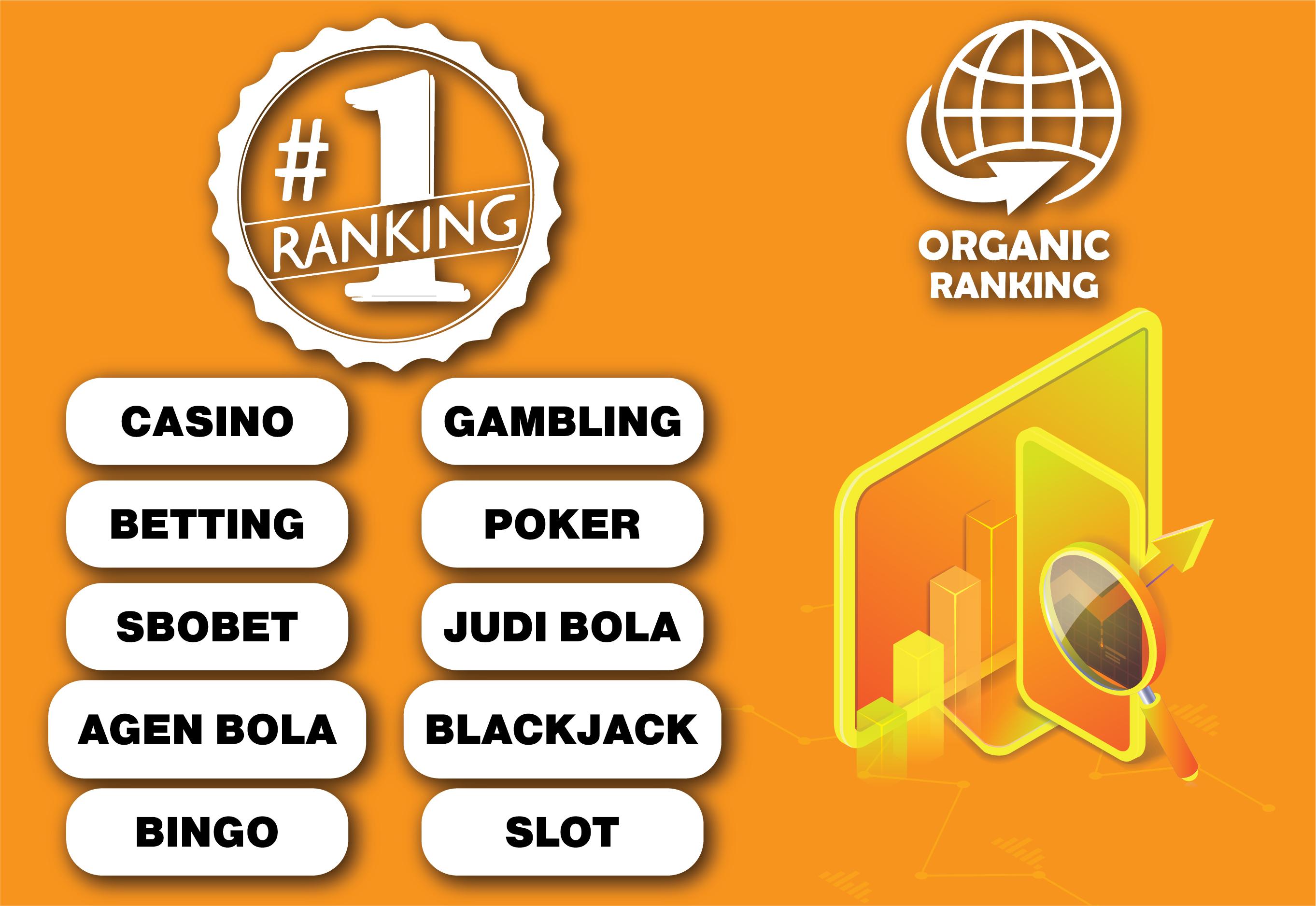 1 - Poker - Casino -Judi bola - Gambling - Betting - Agen Bola - SEO Backlinks Package