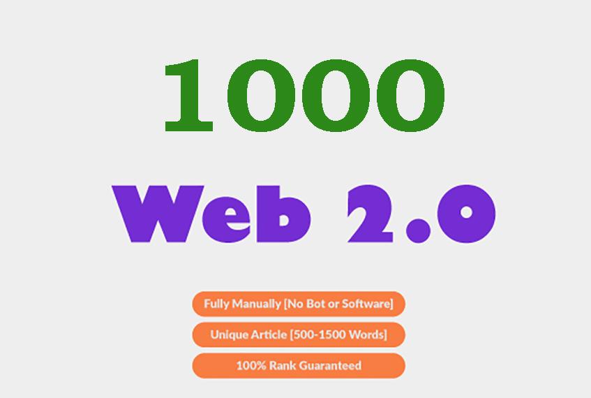Bulid 1000 Manual Web 2.0 Backlinks