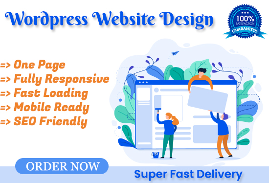 I will create wordpress website of one page