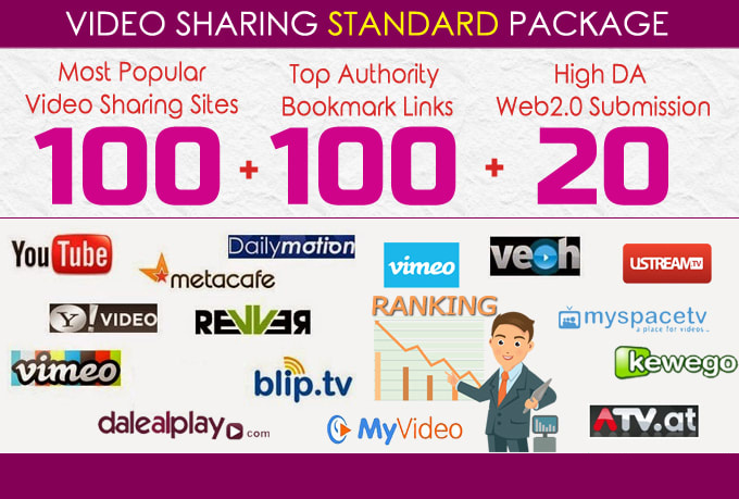Manually Submit Video,  80 Video Sharing Submission Pr9 Sites