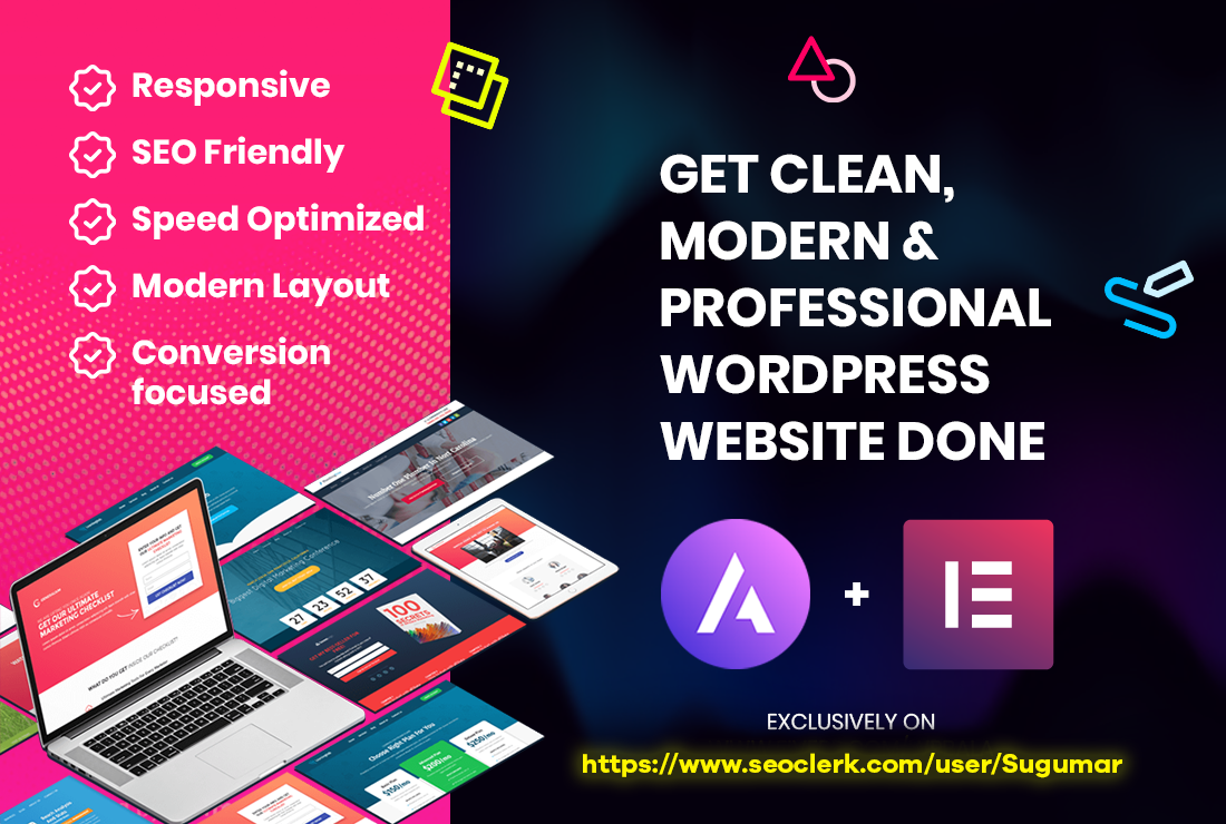 I will design or clone your wordpress using elementor pro