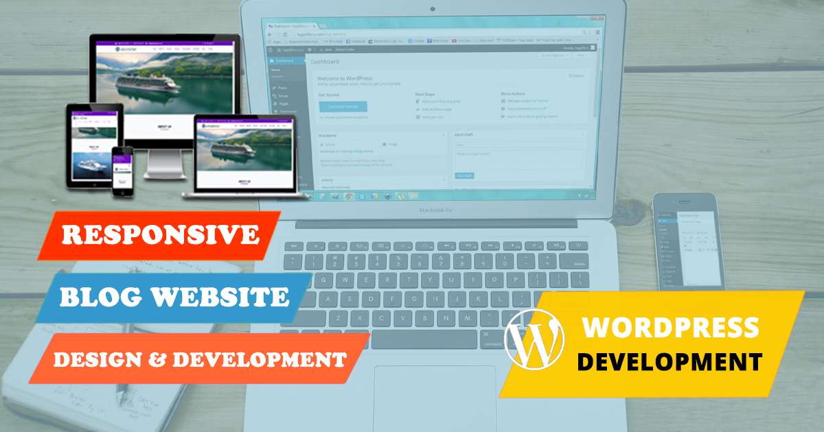 I will create responsive SEO friendly WordPress blog website with basic SEO
