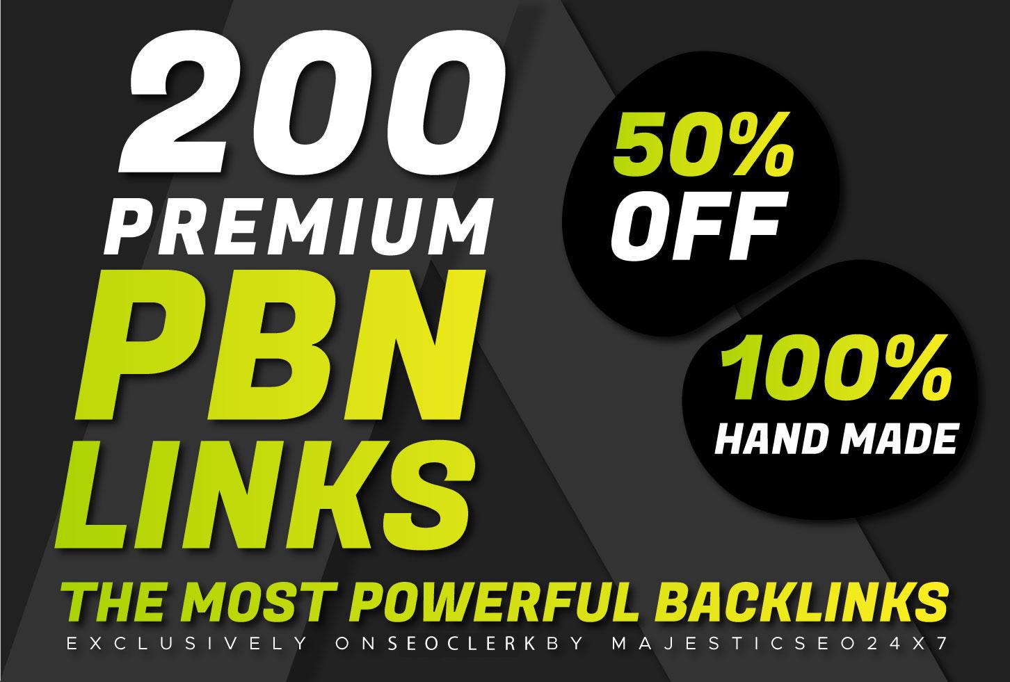 Create 200 HOME PAGE DA 20+ Do-follow PBN Backlinks