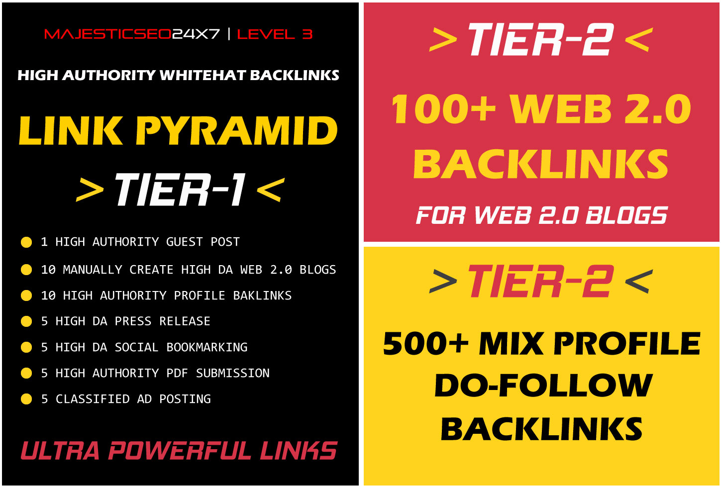 2021 SPECIAL ULTRA POWERFUL 3 TIER LINK PYRAMID FOR GOOGLE TOP RANKING