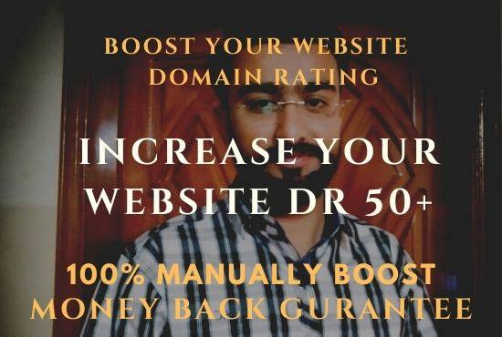 Boost your website AHREFs DR FROM DR0 To DR50+ 100 Gurrantee