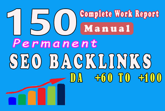 50 Manual Backlinks from DA 60 to 100 to Get fast ranking in Google fast indexing
